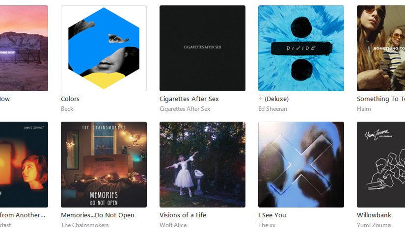 2017年を振り返りつつ、個人的ベスト10曲を決めてみた